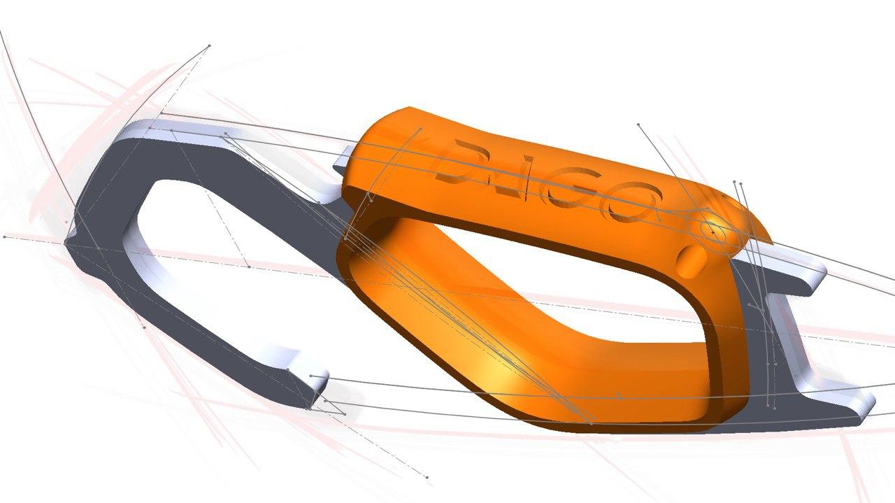 Design 3D porte-clef COVID
