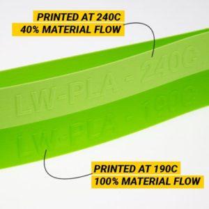 Filament LW-PLA 1.75cm 750g Vert